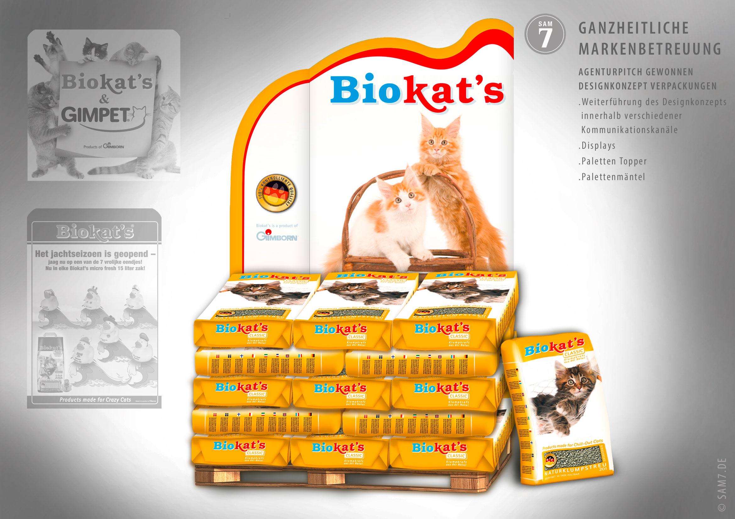 Designkonzept Biokats. Displaygestaltung.