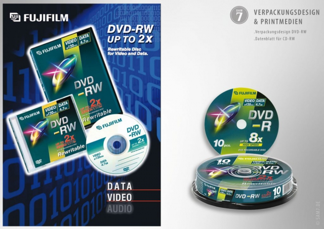 Packaging Design. Print Media. Fuji DVD.
