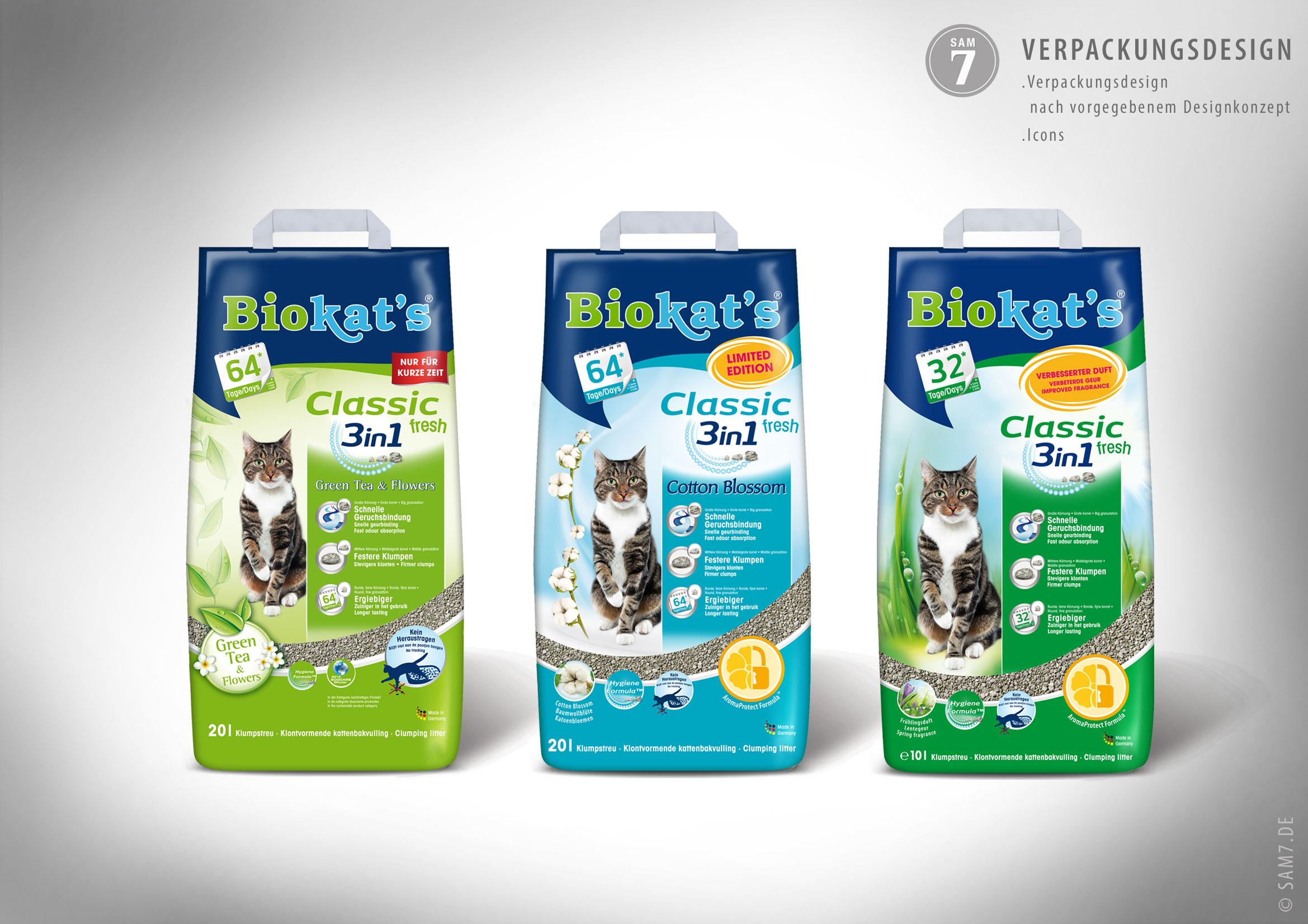 Verpackungsdesign Biokats.
