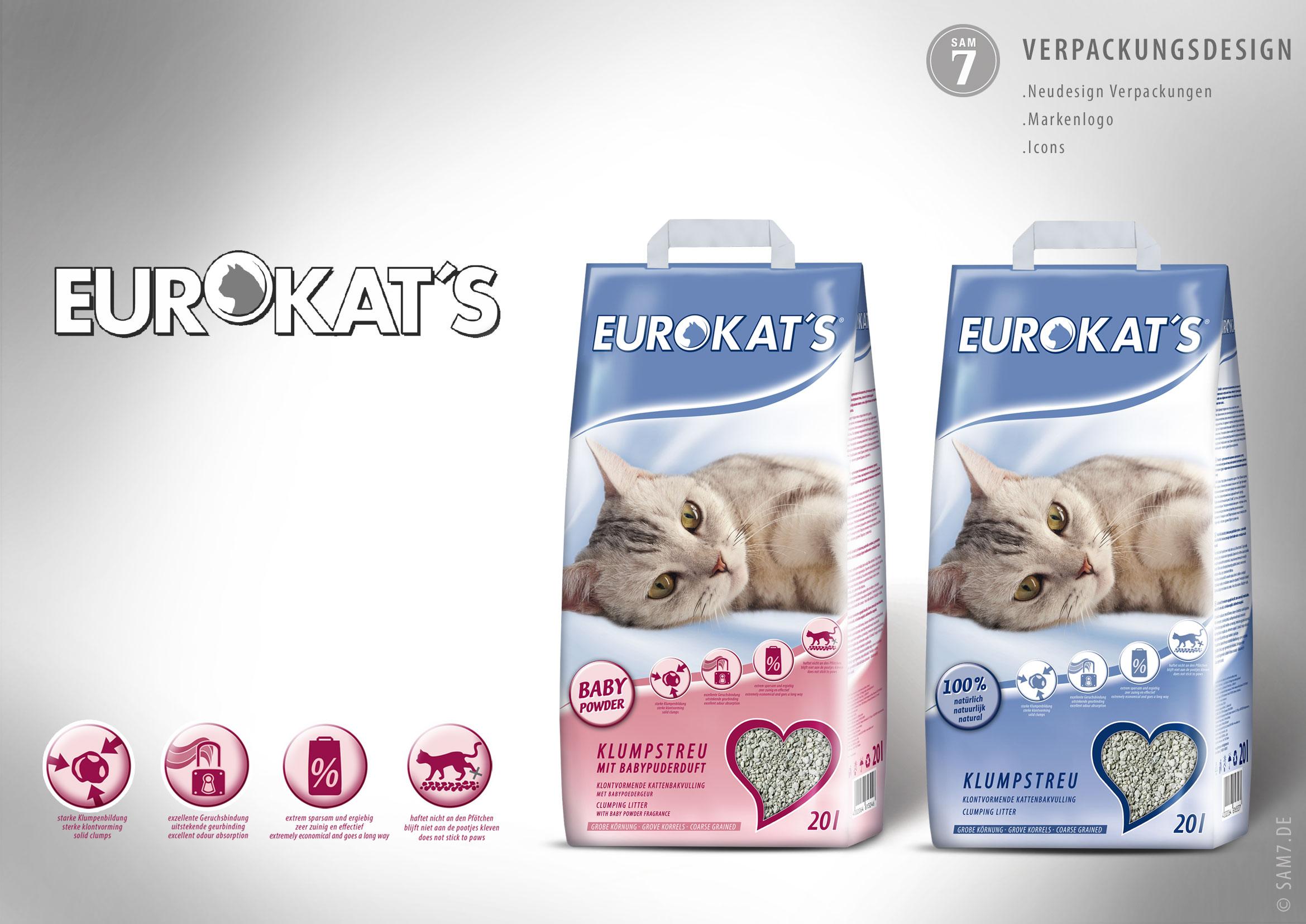 Verpackungsdesign Eurokats.