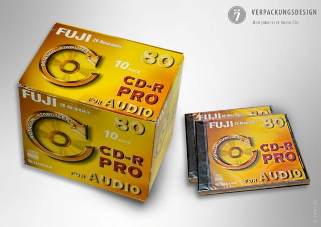 Verpackungsdesign. Fuji CDR Pro.