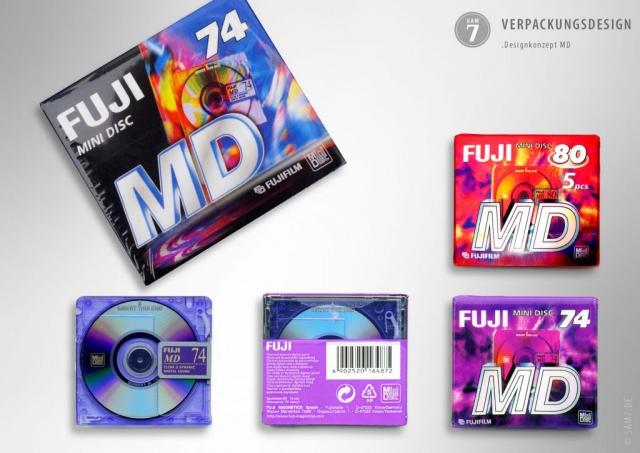 Verpackungsdesign. Fuji MiniDisc. Fujifilm.