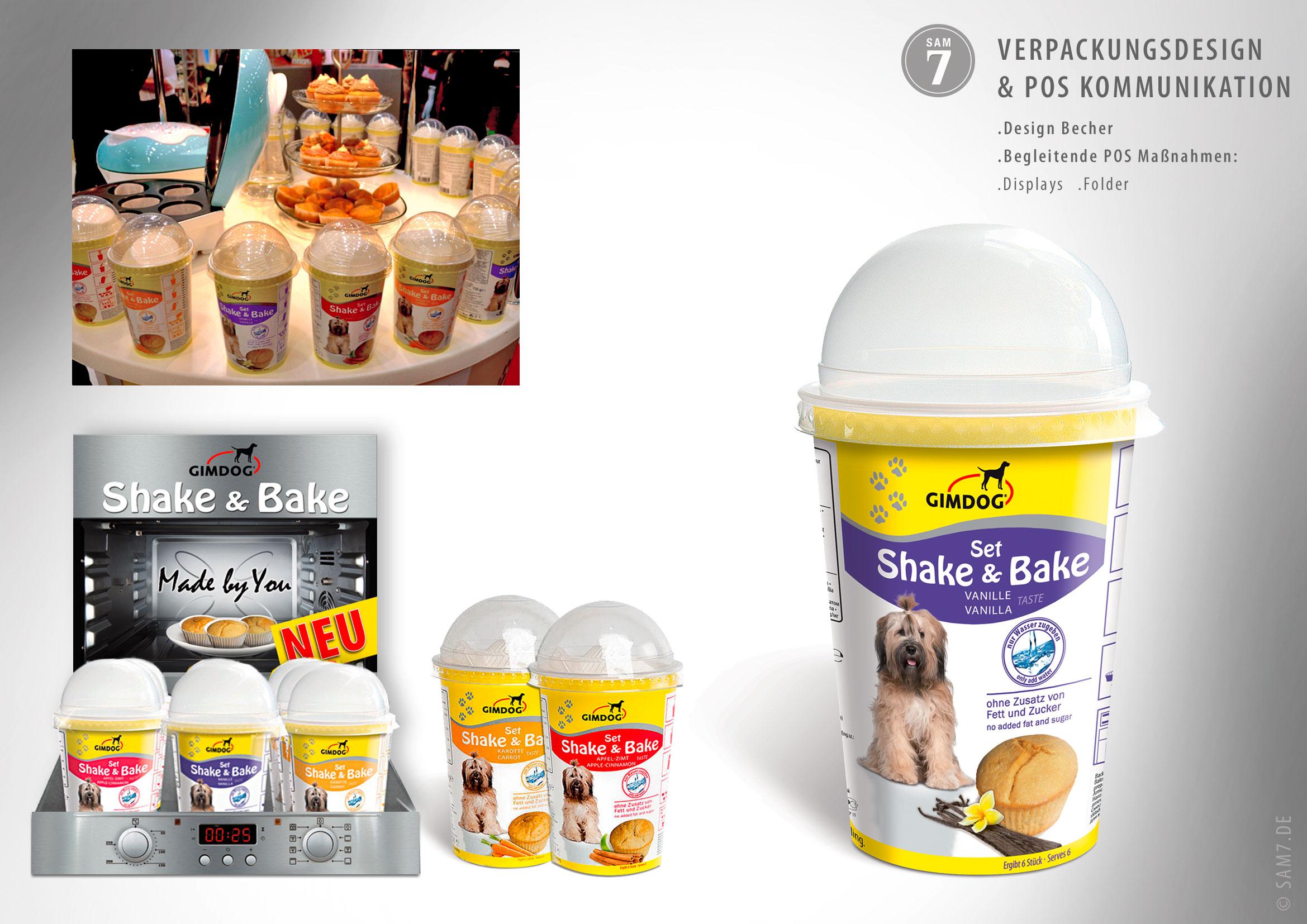 Verpackungsdesign Gimdog Shake Bake.