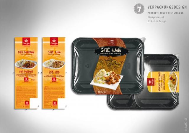Verpackungsdesign. Product Launch Deutschland. Orient Plaza Steamfood.