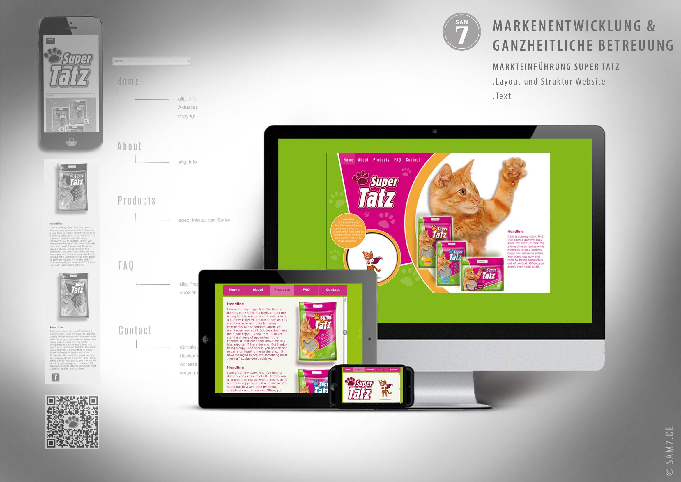 SuperTatz. Website Design.