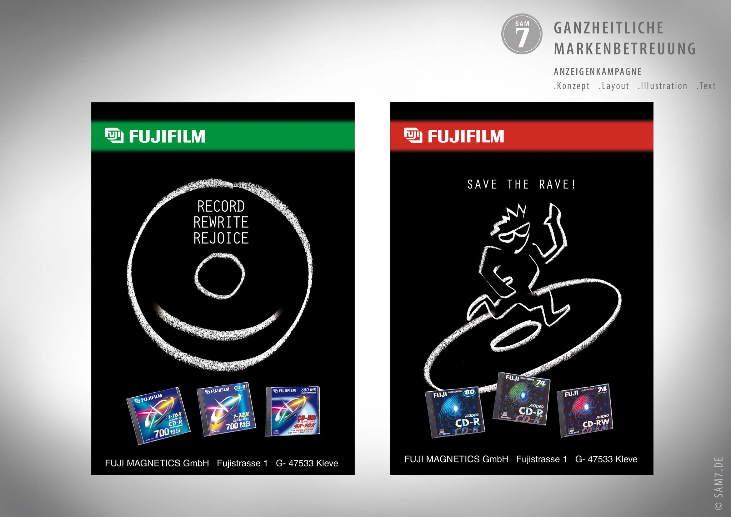 Design Anzeigen. Fuji Magnetics.