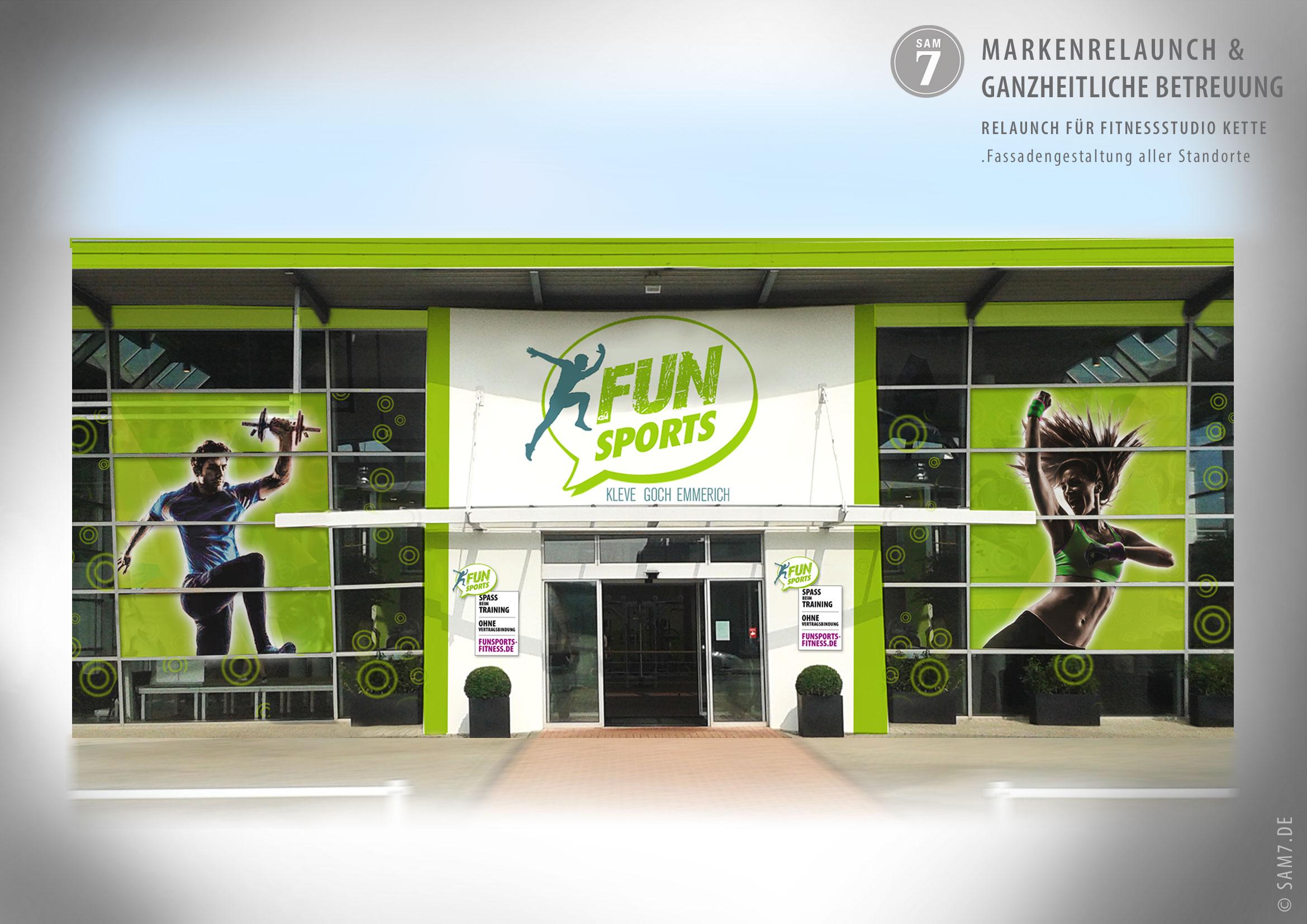 Designkonzept FunSports. Fassadengestaltung.