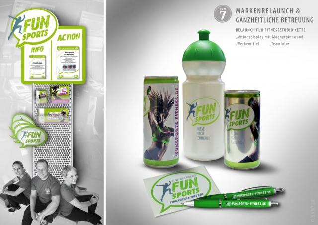 Design Konzept FS Fitness Werbemittel