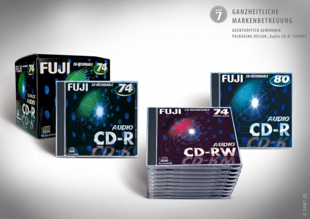 Packaging Design. Fuji Audio CD-R.