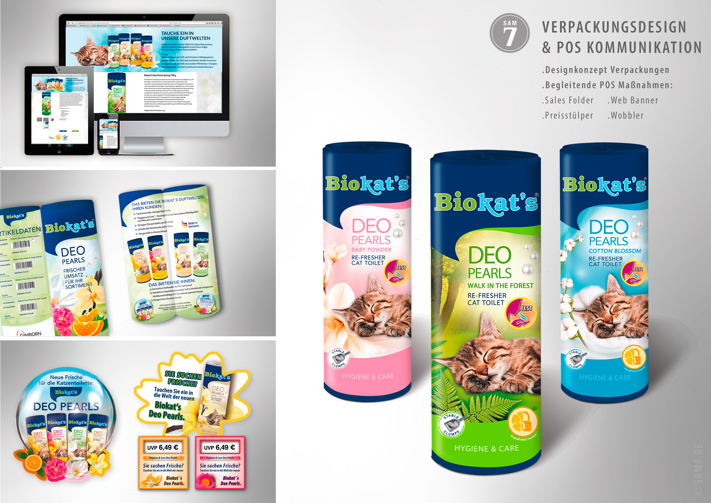Biokats Brand Support. Packaging Design. Deo Pearls.