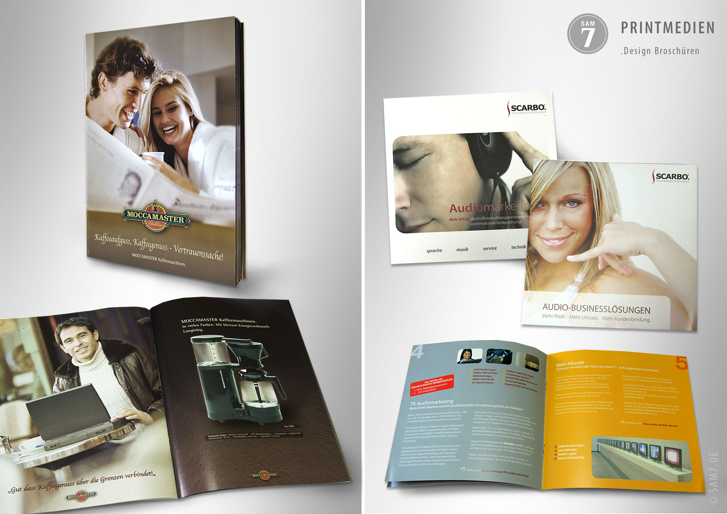 Design Broschueren. Print Media.