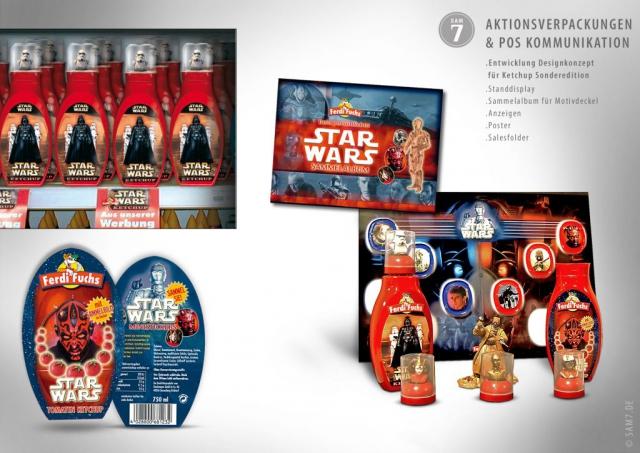 Designkonzept Ketchup. Star Wars Edition.