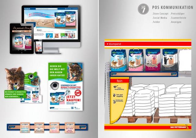 POS Kommunikation. Biokats Store Concept.