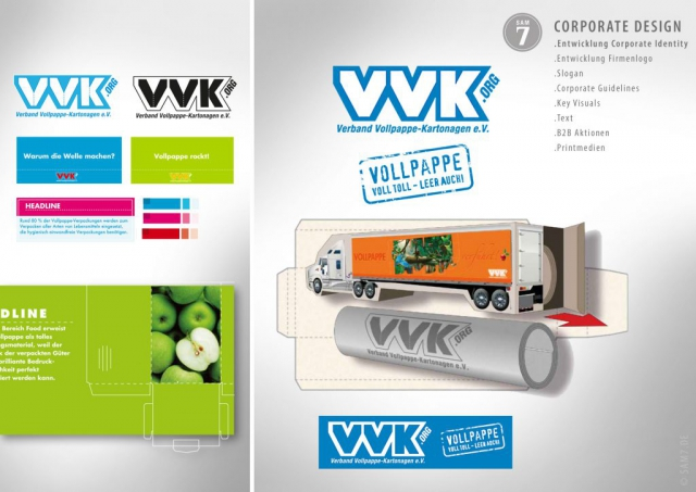 VVK Vollpappe Kartonagen Corporate Design