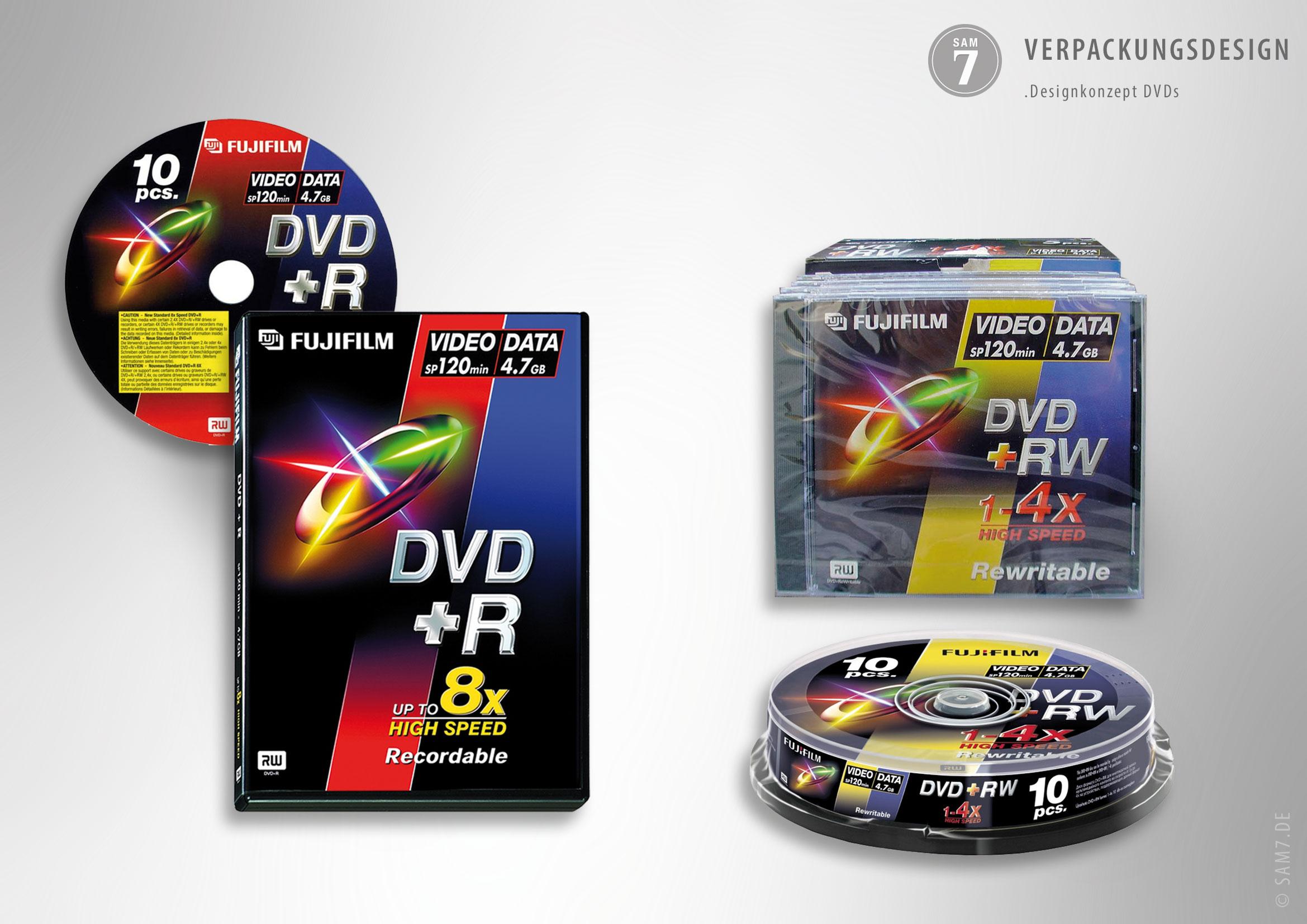 Verpackungsdesign Fuji DVD+R.
