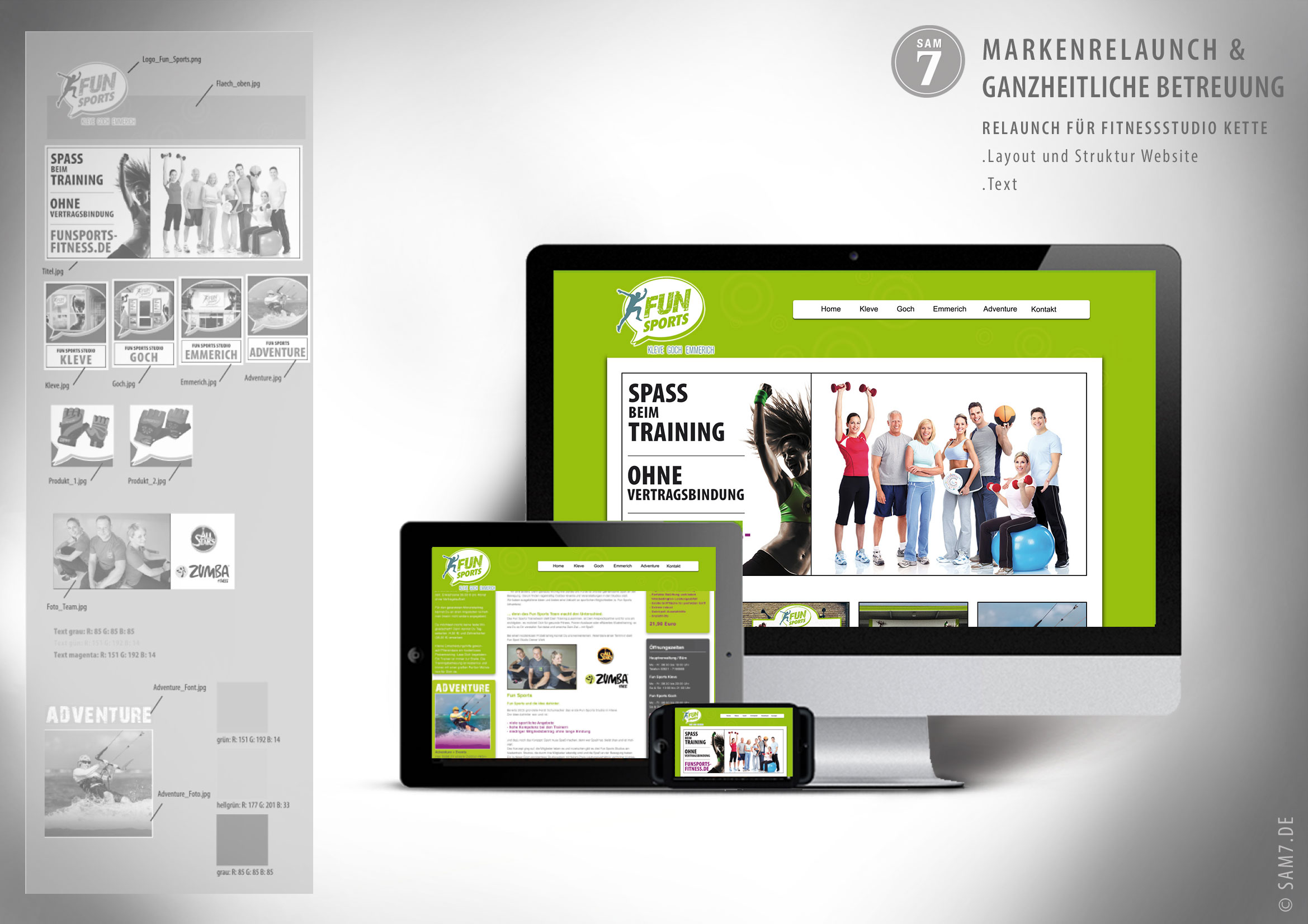 Design Konzept FS Fitness. Website Design.